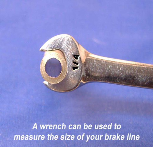 How to find the diameter of brake line without tools